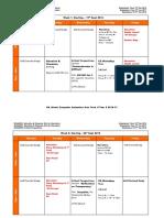 CAA Timetable Year 2 Term 1 2016-17