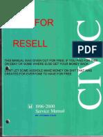 Civic 1996-2000 Service Manual
