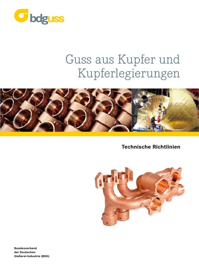 Guss Aus Kupfer Und Kupferlegierungen