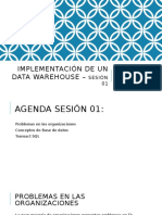 Implementación de Un Data Warehouse – Sesión 01