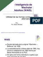 Presentacion Utilidad de Las Formas Cortas y Alternativas Del WAIS