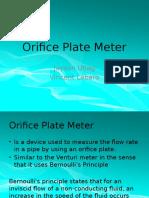 Orifice Plate Meter