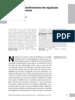 Concepção de Durkheim Na Regulação Da Economia