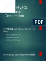 PHP & MySQL Database Connection