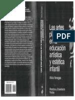 Lectura, Las artes plásticas en la educación artística y estética infantil
