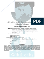 WikiLeaks CIA Advice for Operatives Infiltrating Schengen