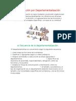 Organización Por Departamentalización