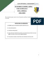 Cape Mathematics unit 2 practice mod 1