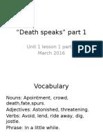 Ingles Cultural Literario Actividad 1 Death Speaks