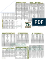 RBHS Fall Sports Schedule 2016