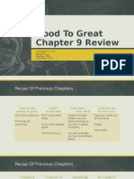 Chap 9 Good to Great