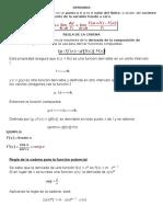 Regla de La Cadena-Derivada-matematicas