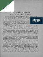 [1940] Mićun M. Pavićević - O Crnogorskom Folkloru (Etnolog 13, 1940)