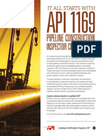 API 1169 Pipeline Inspector Exam Fact Sheet