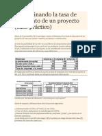 Determinando la tasa de descuento de un proyecto.docx