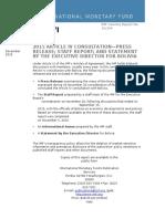 IMF Bolivia Artículo IV 2015