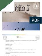 Letras de caligrafía