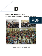 Memoria 1er Encuentro Nicaragua