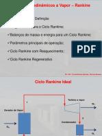 Aula Ciclos Termodinâmicos - Rankine