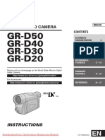 JVC GR-D20/30/40/50 Insturctions Manual / User Guide