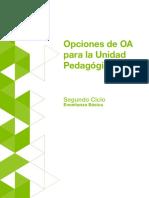 Segundo Ciclo_Opciones de OA Para La Unidad Pedagogica
