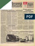 Tolna Megyei Népújság címlapja, 1988/10/15