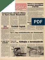 Tolna Megyei Népújság címlapja, 1989/12/06