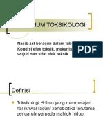 Asas Umum Toksikologi