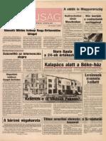Tolna Megyei Népújság címlapja, 1989/12/12