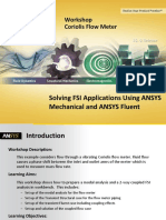Coriolis Flow Meter FSI Workshop 15.0
