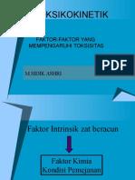 FAKTOR-FAKTOR YANG MEMPENGARUHI TOKSISITAS