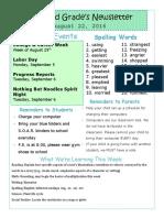 newsletter template august 22