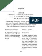 14 Texto de las iniciativas de reforma a la LFT en materia de igualdad y hostigamiento sexual
