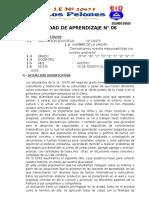 Segundo Grado - Unidad Didáctica - Agosto 2016