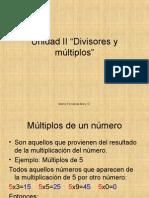 Unidad II Multiplos y divisores 5º básico NHHS