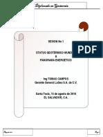 Status Geotermico Mundial y Panorama Energético, Por Ing Tomas Campos - 15ago16