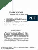 EL PENSAMIENTO POÉTICO DE PORFIRIO BARBA-JACOB