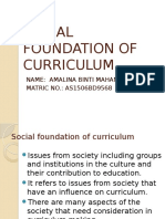 Social Foundation of Curriculum