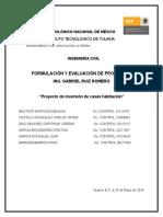 """Formulación y Evaluación de Proyectos """"Jardines de La Presa Tijuana"""""""