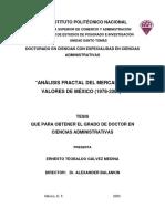 Analisis Fractal Del Mercado de Valores