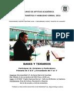 Bases IV Concurso Muni Huachipa