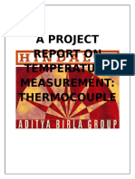 A Project Report on Temperature Measurement