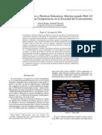 Generación de Recursos y Prácticas Educativas Abiertas usando Web 2.0