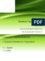 Business Organizaton II Lecture Series Capital Structure - Copy