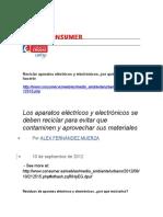 Reciclar Aparatos Eléctricos y Electrónicos - Eroski Consumer
