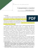 SILVA, Virgilio Afonso Da - O Proporcional e o Razoavel