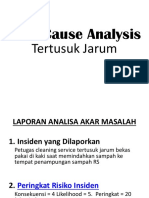 Root Cause Analysis Tertusuk Jarum