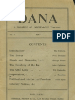 DANA-- A magazine of independent thoughts