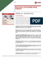 MAL - Malaysia and US Weekly Economic News Summary - 250113