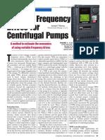 VFD for Centrifugal Pumps
